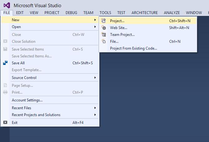 Create_New_Project_Context_menu