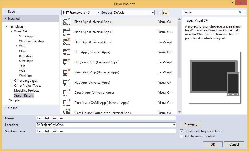 Universal_Template_in_Visual_Studio